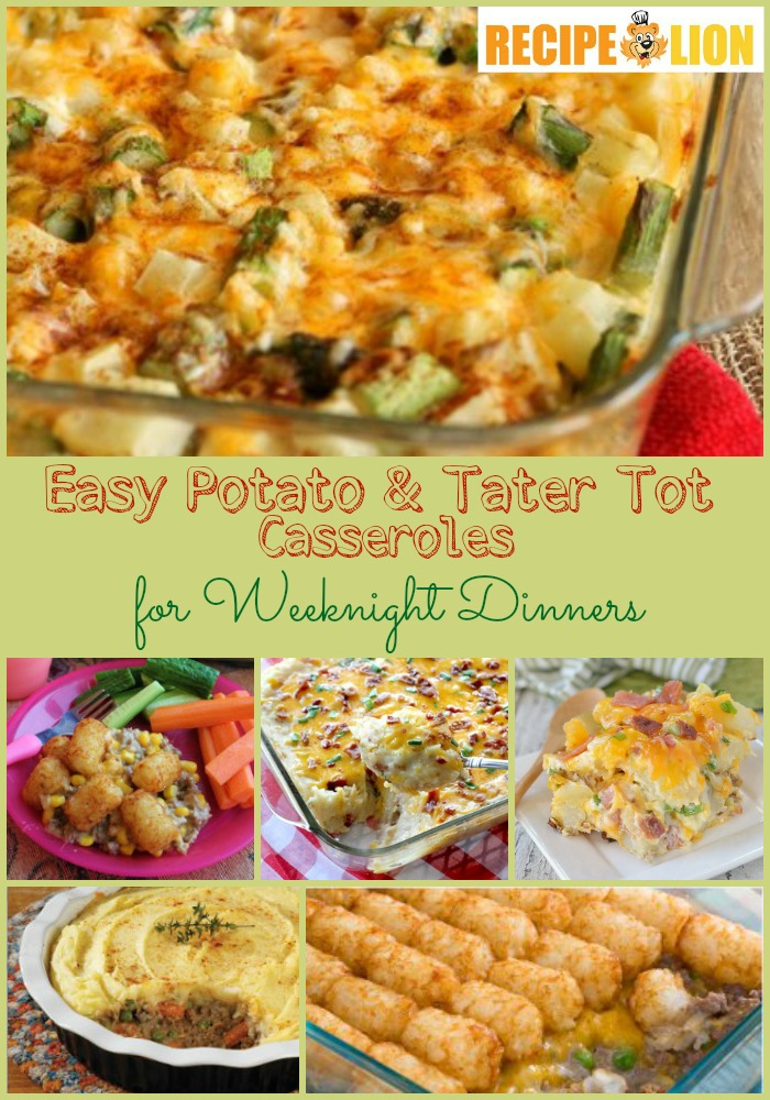 Easy Potato and Tater Tot Casserole Recipes