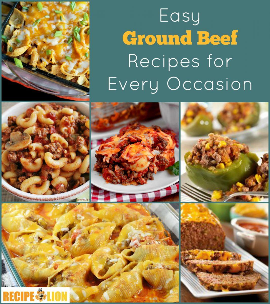 133 Easy Ground Beef Recipes