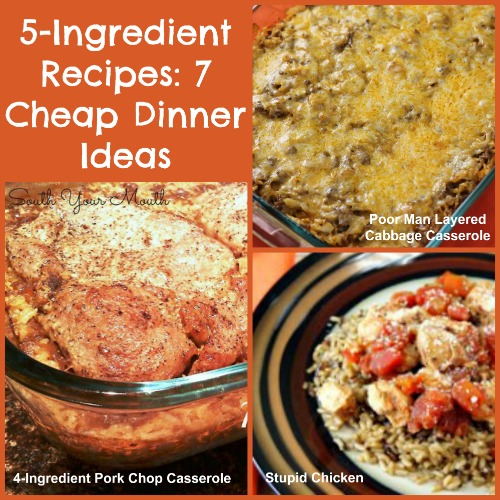 5 Ingredient Recipes 12 Cheap Dinner Ideas