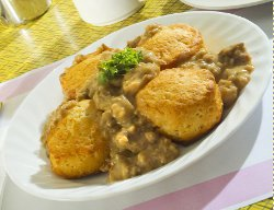 Vintage Biscuits and Sausage Gravy