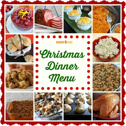 Christmas Dinner Menu Ideas