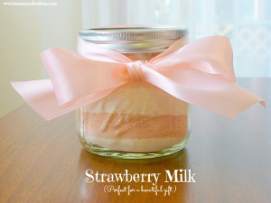 Mason Jar Strawberry Milk Mix