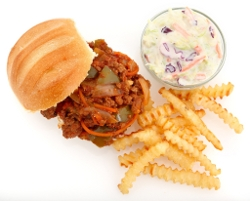 Sloppy Joe and Coleslaw