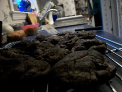 Double Chocolate Coal Cookies