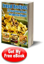 Frugal Recipes: 26 Easy Ground Beef Recipes for Dinner eCookbook