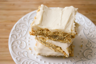 No Bake Cookie Recipes - No-Bake Coconut Graham Cracker Cookie Bars