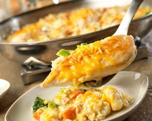 Skillet Cheesy Chicken and Rice